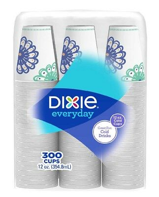 Dixie Paper Cold Drink Cup 12 oz 300 Ct Quick Restaurants Service DXE 827287