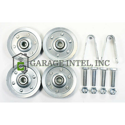 "Extension Spring 3"" Pulley Kit Garage Door Sheave Hardware Included"
