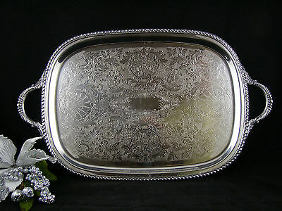 Antique Art & Co.  Large Silverplate Butlers/Waiters Serving Tray #503 1900-1940