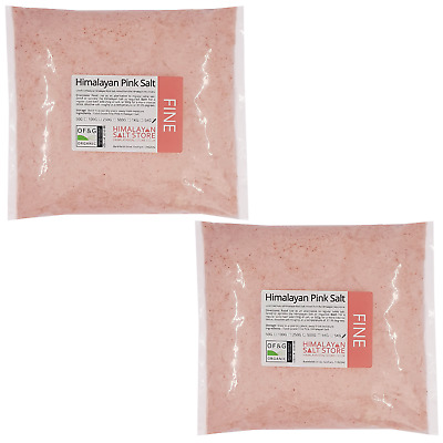 PINK HIMALAYAN ROCK SALT | 10KG FINE | ORGANIC | Table Food / Bath Natural Pure