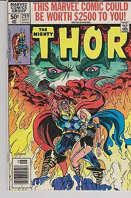 "The MIGHTY THOR Marvel Comics Group No. 299, Sept 1980 50c ""Passions & Potions"""