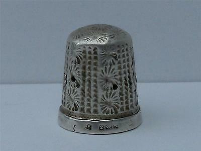 Solid Sterling Silver Thimble Birmingham