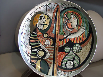 """PICASSO'S """"GIRL BEFORE A MIRROR"""" 1932 LARGE CHARGER PLATE  EXCL CONDITION"""