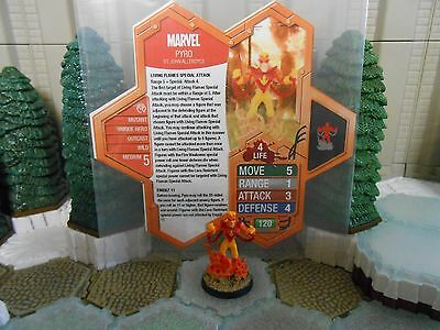 Heroscape Custom Pyro C3G Double Sided Card and Figure w/ Sleeve Marvel