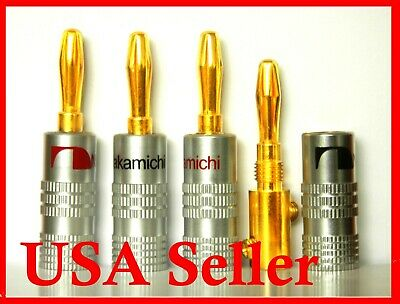 30 Nakamichi Speaker banana plug Adapter Audio connector 24K Gold Plated USA