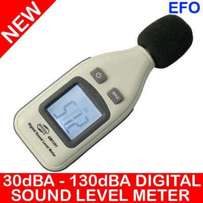 DIGITAL SOUND LEVEL METER 30dBA ~ 130dBA ±1.5dB DECIBELS MAX HOLD GM1351