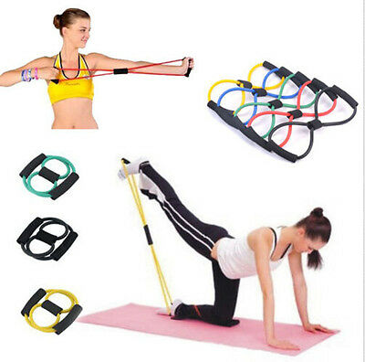 Hot Sport Elasticity Yoga Pull Rope Rubber Latex Fitness Yoga Rope Exercise Rope