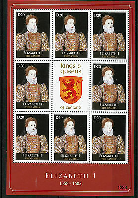 Gambia 2012 MNH Kings & Queens of England Elizabeth I 8v M/S Royalty Stamps