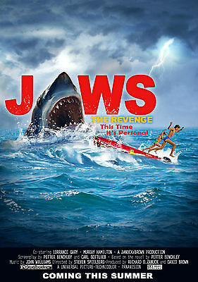 JAWS The Revenge Vintage Movie Large Poster - A0 A1 A2 A3 A4 Sizes