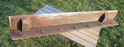 Antique Barn Rustic coat Rack Authentic 7 Hooks Charming Weatherworn