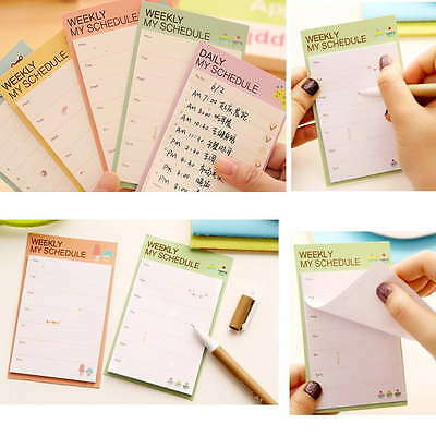 Weekly/Daily Planner Sticker Sticky Notes Memo Pad Schedule Check List
