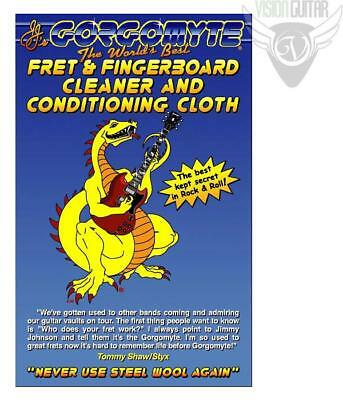 3-Pack! Gorgomyte Fret & Fingerboard Cleaner & Conditioning Cloth - Used By Pros