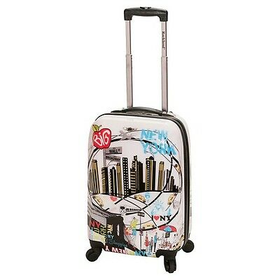 Rockland Luggage Vegas Polycarbonate Carry On New York - 20""
