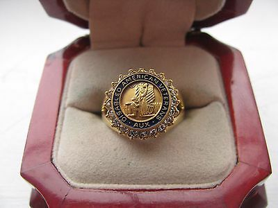 "Superb Jewelers Ladies ""Disabled American Veterans Auxiliary"" Crest Ring"
