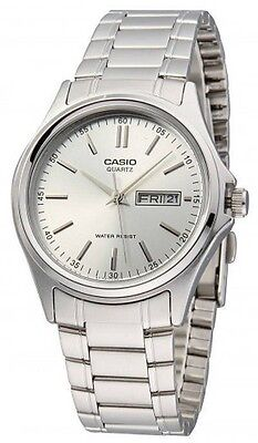 Casio MTP1239D-7A Mens Silver Dial Stainless Steel Dress Watch Modern Day/Date