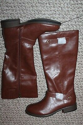 NEW Womens Kenneth Cole Reaction Brown Tall Zip Up Riding dress Boots Size 8