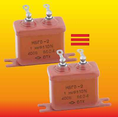 1 uF 400 V STRONG MATCHED RUSSIAN PAPER IN OIL PIO AUDIO CAPACITORS MBGO МБГО-2