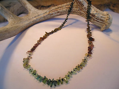 "Natural Watermelon Tourmaline Rough Crystal Stick Beads 87+ carats 19"" Strand"