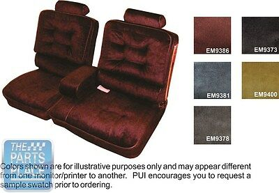 1981-87 Regal Limited Blue Front Bench W/ Armrest Seat Covers & Coupe Rear - PUI