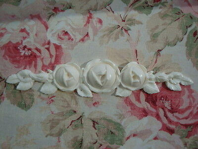 """SHABBY & CHIC """"FRENCH CABBAGE ROSES"""" ~ Center Furniture Applique Pediment"""