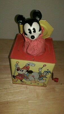 Vintage, Mickey Mouse Carnival Toys, Jack in the Box.