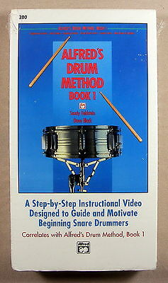 Alfred's Drum Method - Book 1 - The Snare Drum - VHS - Brand New