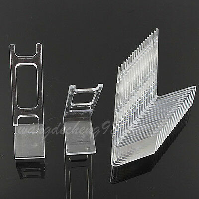 20 PCS Clear Plastic Watch Jewelry Showcase Display Stand Holder Rack