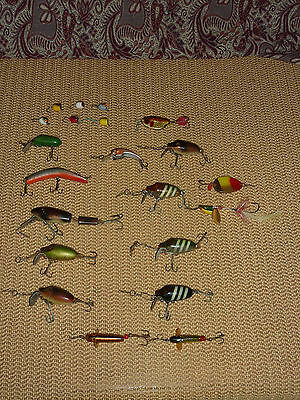 Vintage Fishing Lures Timber Painted