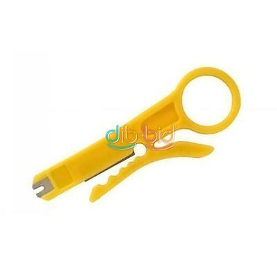Nuevo 2/5/10x RJ45 Cat5 Punch Down Red UTP Cable Cutter Stripper