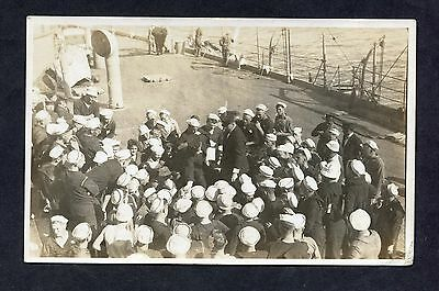 C1920's View of US Sailors on a Warship