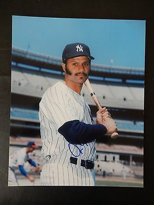 "Chris Chambliss Autographed 8"" X 10"" Photograph"