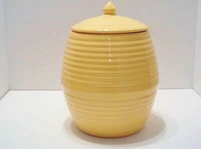 "BAUER POTTERY BUTTERCREAM COOKIE JAR 9 1/2""H  X 6 1/2""W NEW, MINT"