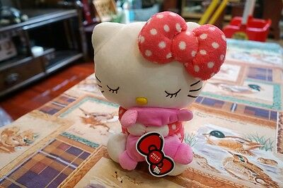 """10"""" Cute Sanrio Adorable Pink Hello Kitty Collection Hold Pillow Plush Doll Toy"""