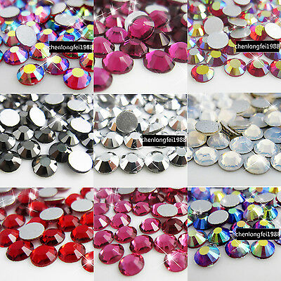 1440 Crystal DIY flatback Faceted Non Hotfix Rhinestones for nail art phone case