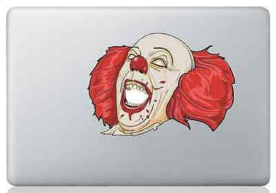 "Autocollant sticker film vinyle déco Apple MacBook 13"" : Clown Ca - Stephen King"