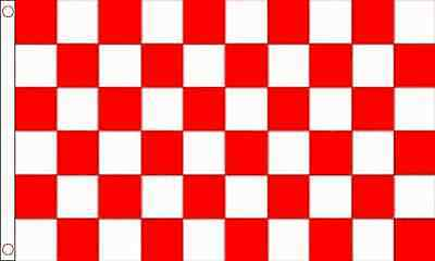 Red / White Check Chequered Large Flag 5' x 3'