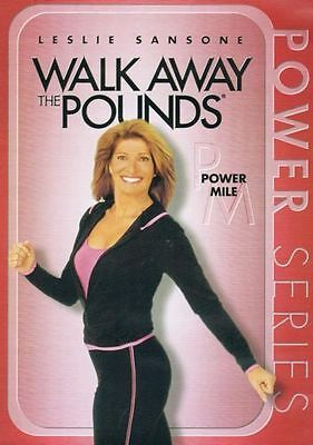 LESLIE SANSONE WALK AWAY THE POUNDS POWER MILE DVD NEW WALKING AT HOME EXERCISE
