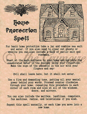 Home Protection Spell, Real Wicca Spell for your Book of Shadows, Witchcraft