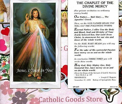 Divine Mercy with the Chaplet of Divine Mercy - Paperstock Holy Card