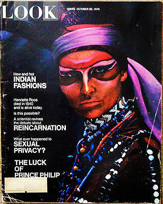 OCTOBER 20, 1970 LOOK Magazine- INDIAN STYLE - JAPAN - SEXUAL PRIVACY - FOOTBALL