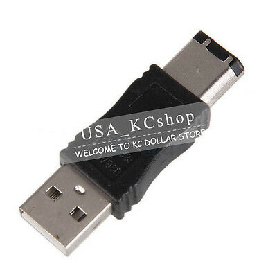 Firewire IEEE 1394 6 Pin Male to USB A Male  Convertor Jack M/M Adapter