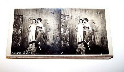 1920's RISQUE 15 CARD 3D STEREO VIEW SET COIN OP MUTOSCOPE MILLS CAIL O SCOPE #5