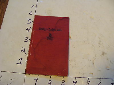 Vintage Fraternal book~~1902 by-laws of Craigie Lodge no 121, OXFORD MAINE