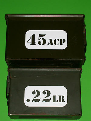 """*1 LARGE AMMO CAN LABEL* 3""""x6"""" 30 50 cal ar15 ak47 5.56 223 308 7.62 nato decal"""