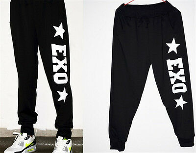 Exo pants Trousers casual sports Cotton pants loose EXO CALL ME BABY Print Black