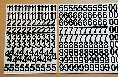 3cm / 30mm Self Adhesive Vinyl Sticker Numbers 0-9  -  25 Colour Choice