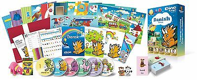 Danish for Kids Deluxe set, Danish learning DVDs, Books, Posters, Flashcards