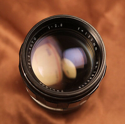 M42 Soligor 135mm f2.8 with interchangeable T4 lens mount