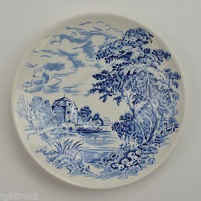 Enoch Wedgwood China Countryside Blue Pattern Flat Cup Saucer Retired Tableware