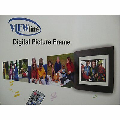 Viewline 15-Inch Digital Picture Frame W/Bronze Wood Frame Multimedia 1GB Memory